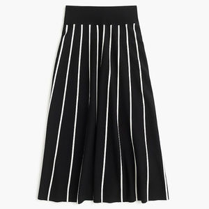 J.Crew A Line Midi Knitted Viscose/Poly Skirt NWT